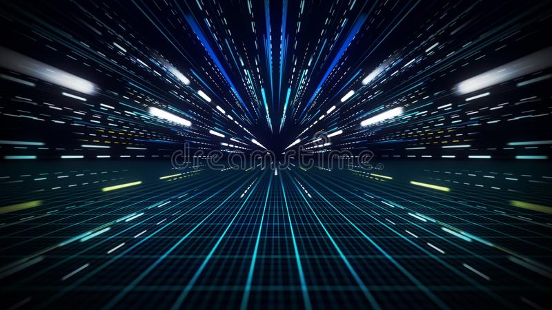 El movimiento de la velocidad alinea el fondo abstracto ilustración del vector