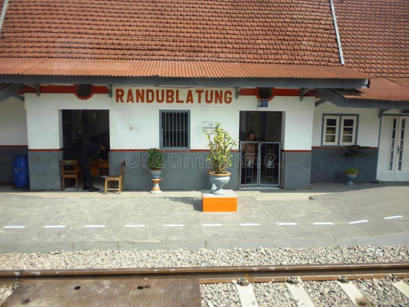 El movimiento en el ferrocarril Blora imagenes de archivo