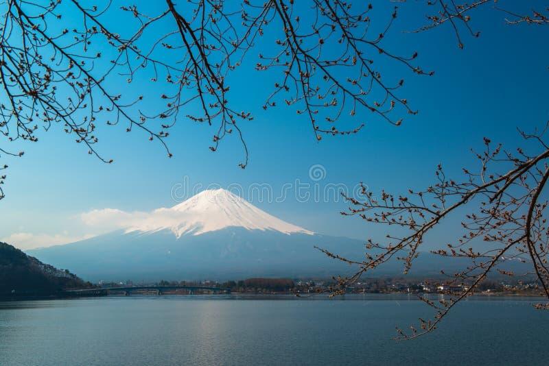 El Mt Fuji sube sobre el lago Kawaguchi fotos de archivo libres de regalías