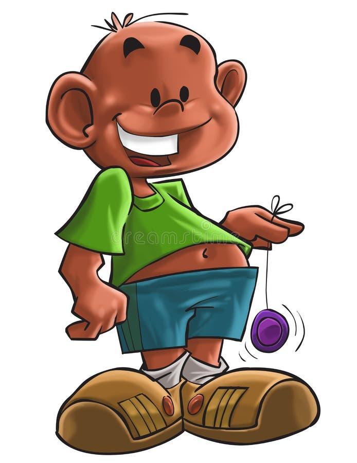 El muchacho con el yoyo ilustración del vector