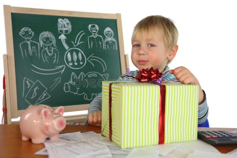 El muchacho es un proyecto del negocio fotos de archivo libres de regalías
