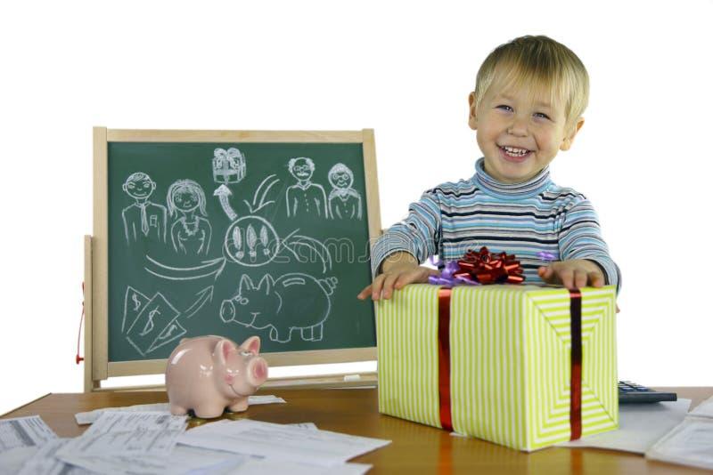 El muchacho es un proyecto del negocio foto de archivo libre de regalías