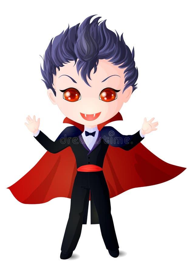 El muchacho es un vampiro ilustración del vector
