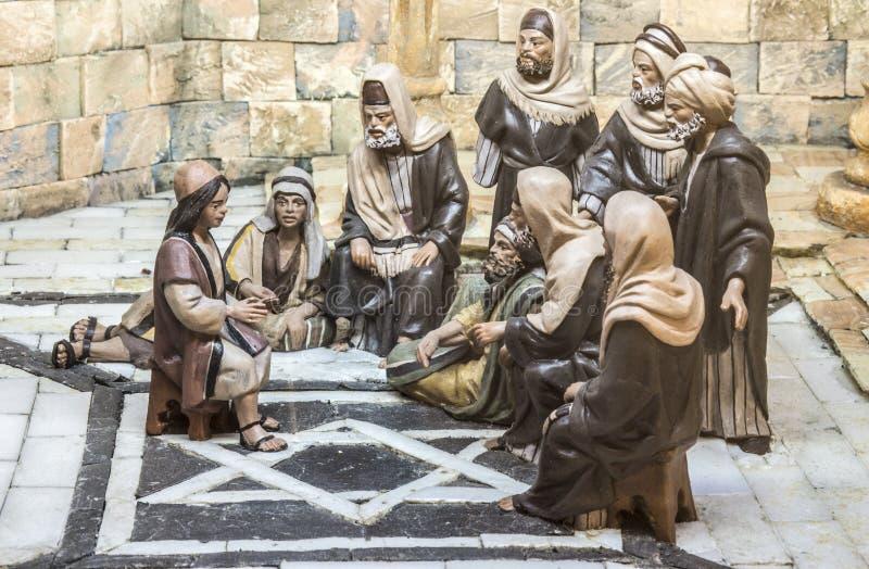 El muchacho Jesus At The Temple imágenes de archivo libres de regalías