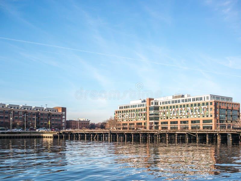 El muelle de Baltimore imagen de archivo