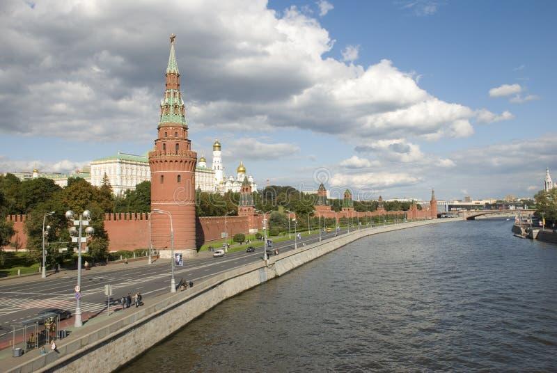 El muelle de Kremlin foto de archivo libre de regalías