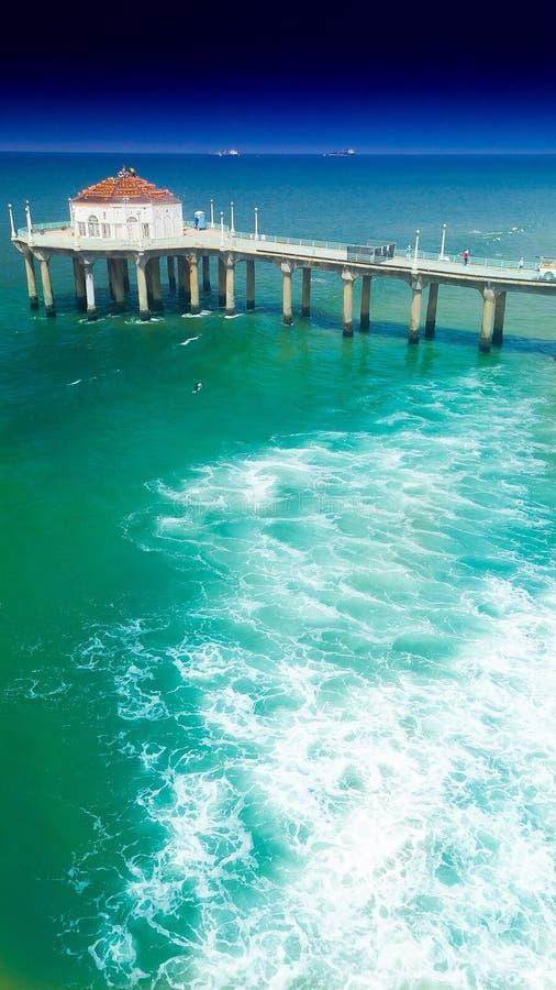 EL Muelle de Manhattan Beach immagine stock libera da diritti