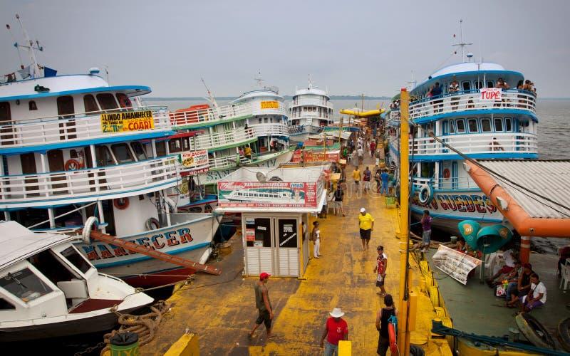El muelle en Manaus fotos de archivo libres de regalías