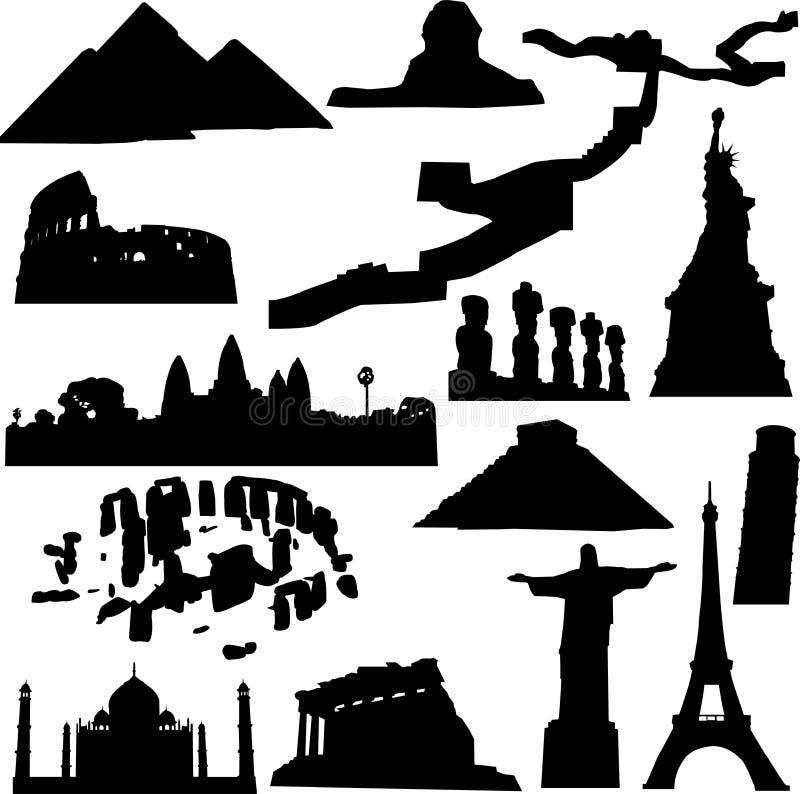 El mundo arquitectónico stock de ilustración