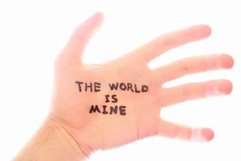 El mundo es el mío foto de archivo