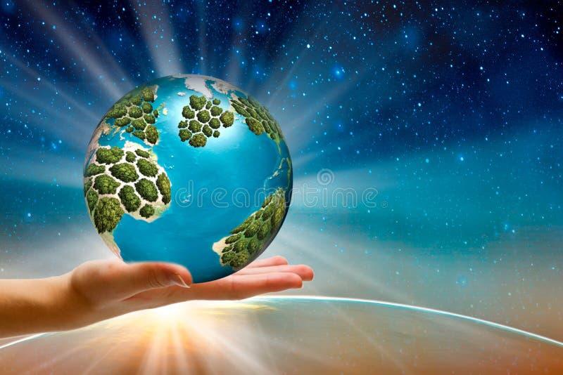El mundo está en sus manos el mentor da conocimiento valioso y abre una nueva vista del mundo Espacio para el texto fotografía de archivo libre de regalías