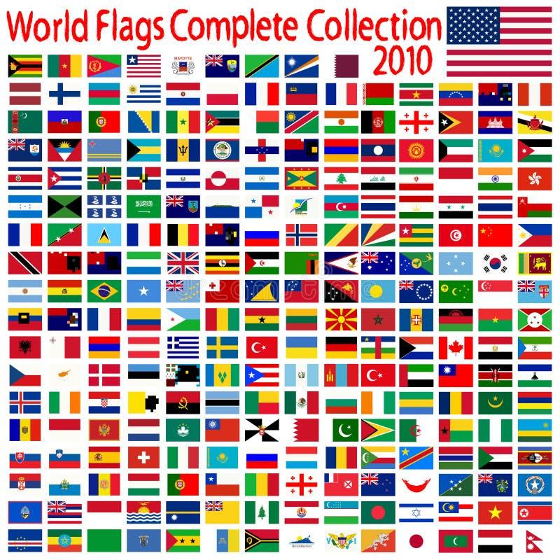 El mundo señala la colección por medio de una bandera libre illustration