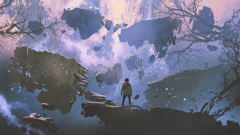 El mundo sin gravedad libre illustration