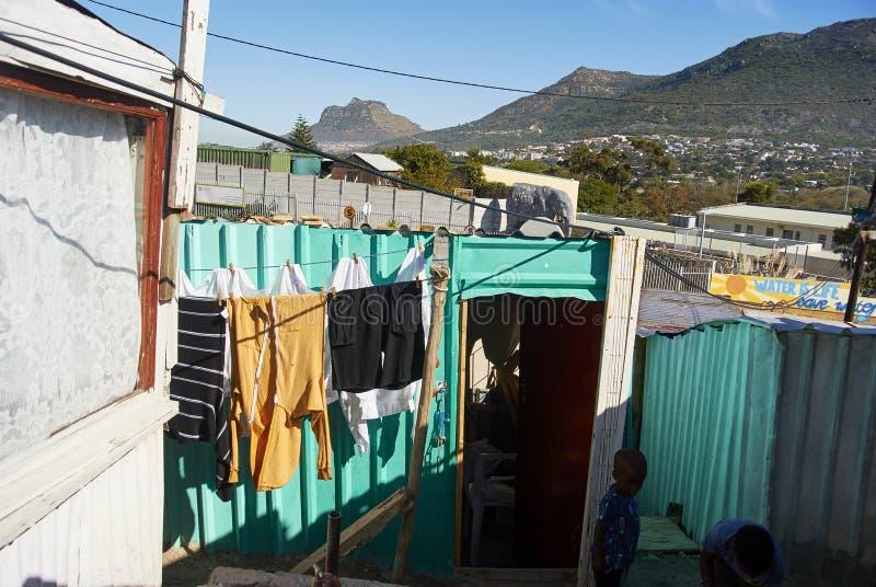 El municipio de Imizamo Yethu en Suráfrica imágenes de archivo libres de regalías