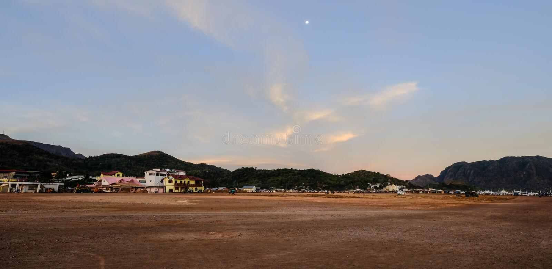 El municipio del campo en la isla de Coron foto de archivo