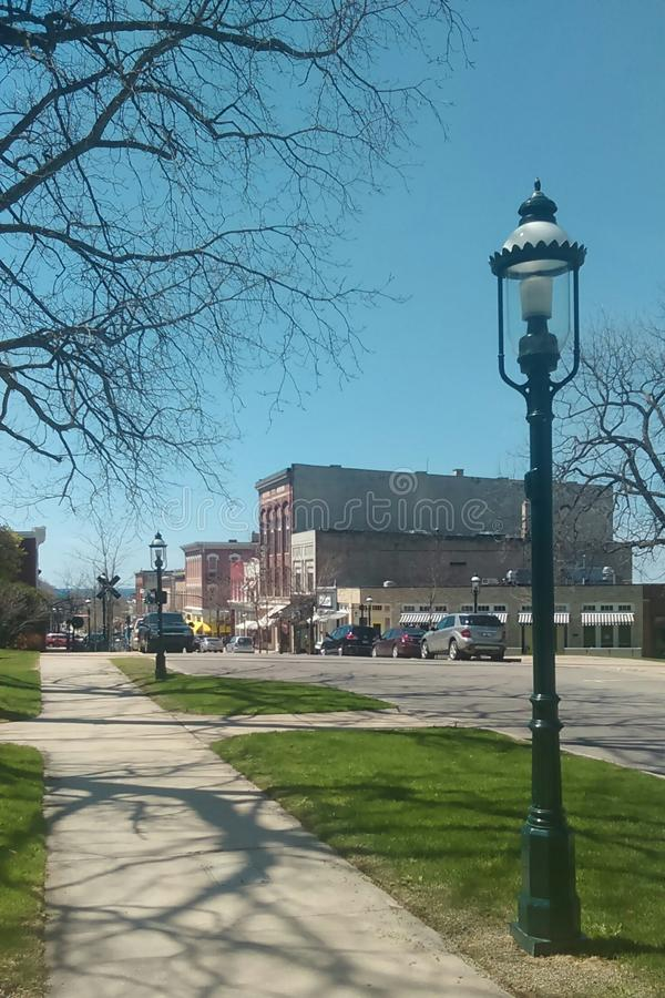 El municipio histórico del lago Michigan fotografía de archivo