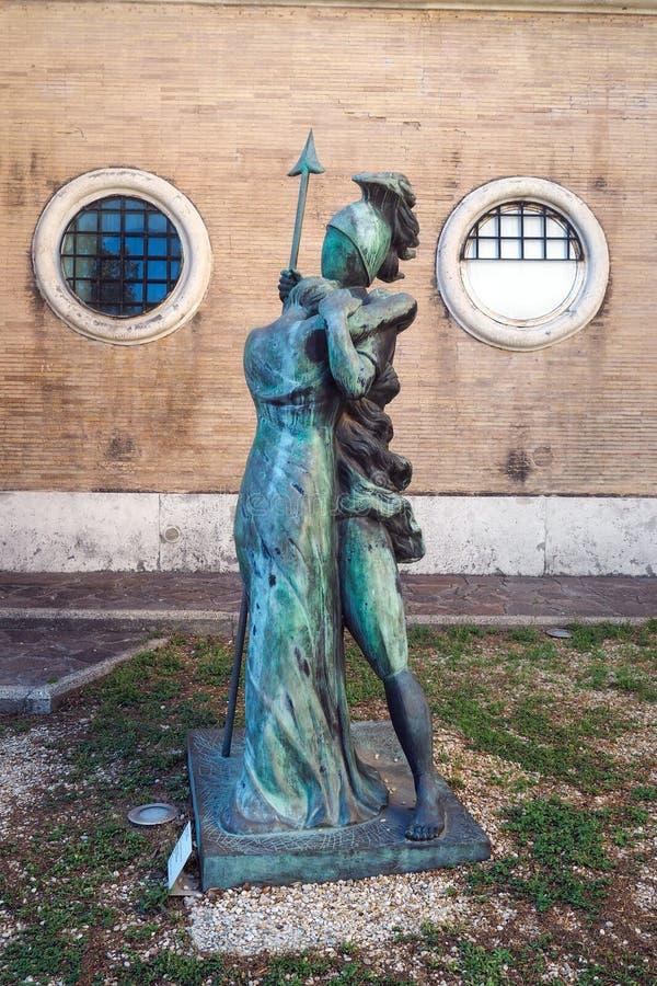 El museo Carlo Bilotti para el arte contemporáneo en Roma, Italia imagen de archivo