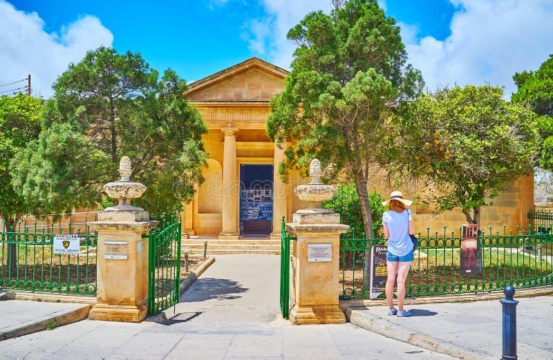 El museo de Domus Romana, Rabat, Malta foto de archivo