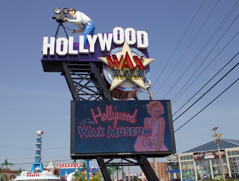 El museo de la cera de Hollywood firma adentro Branson, Missouri imagen de archivo