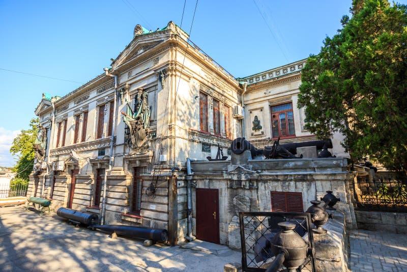 El museo de la flota del Mar Negro de la Federación Rusa en Sevas imagen de archivo libre de regalías