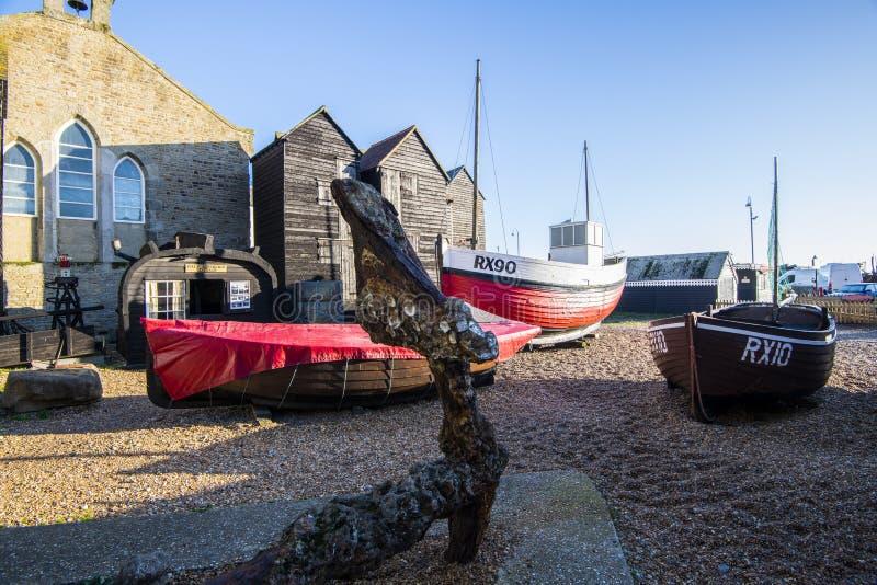 El museo de la flota pesquera en Hastings, East Sussex, Inglaterra fotografía de archivo