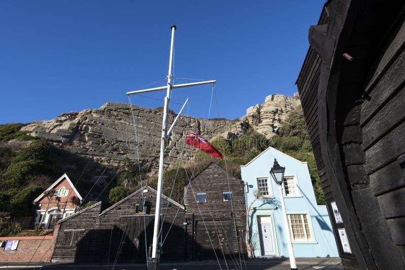 El museo de la flota pesquera en Hastings, East Sussex, Inglaterra fotos de archivo libres de regalías