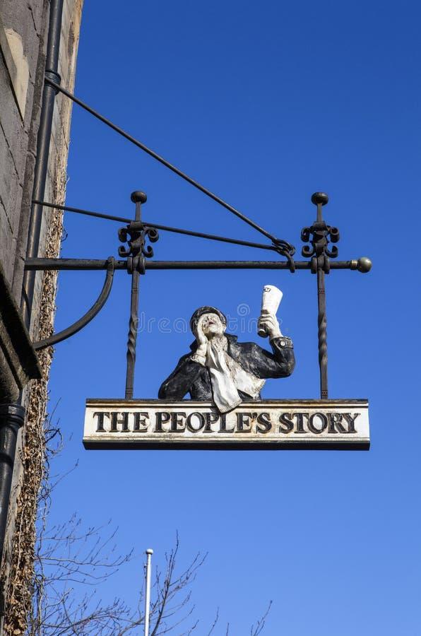 El museo de la historia de la gente en Edimburgo foto de archivo