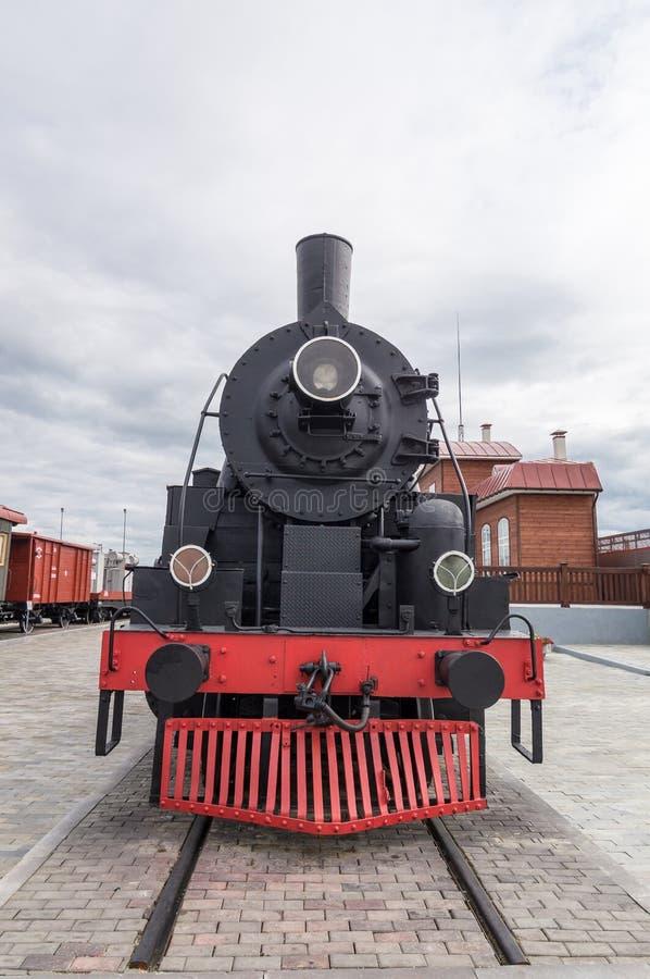 el museo de la historia del objeto expuesto del motor de vapor, Ekaterinburg, Rusia, foto de archivo libre de regalías