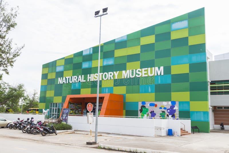 El museo de la historia natural es una señal para aprender en Khon Kaen, Tailandia imagen de archivo libre de regalías