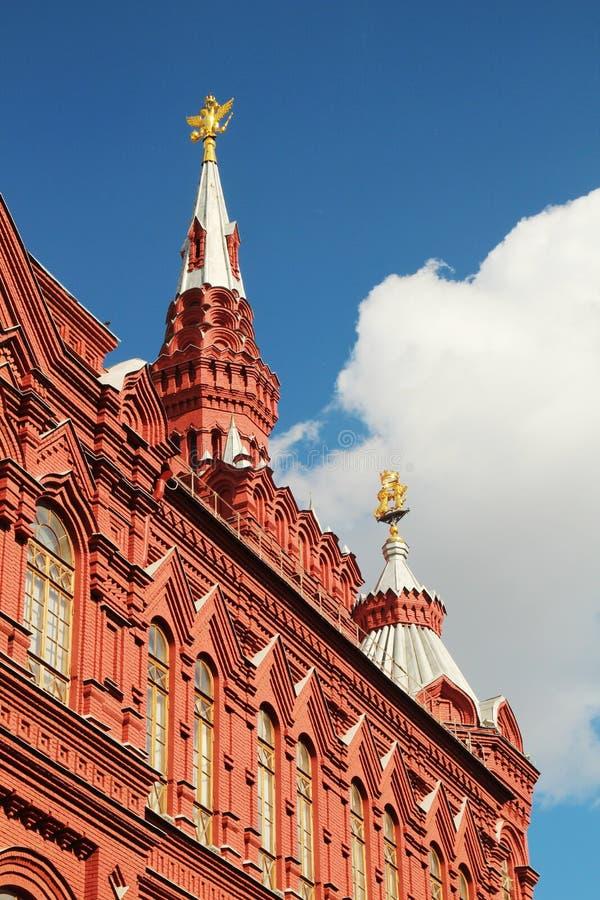 El museo de la historia, Plaza Roja, Moscú fotografía de archivo