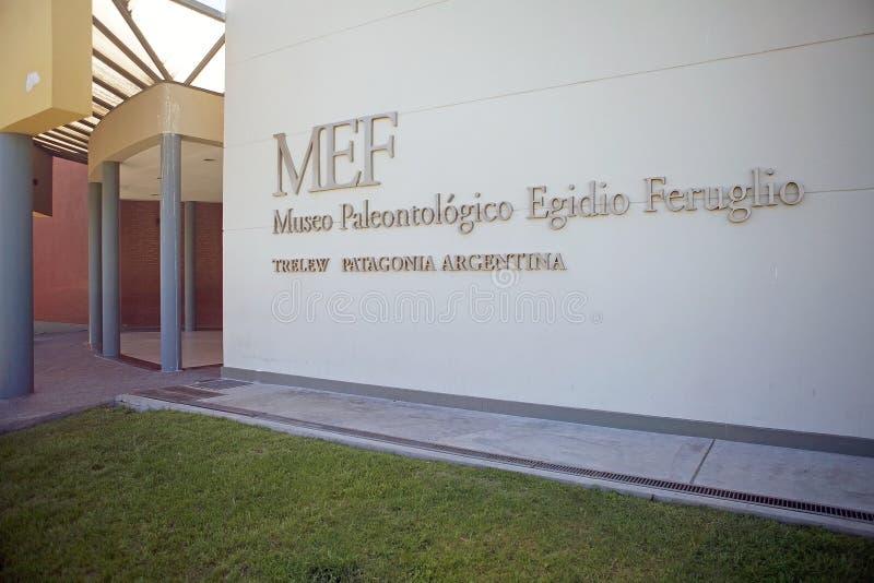 El museo de la paleontología Egidio Feruglio en la ciudad de Trelew, Patagonia, la Argentina foto de archivo libre de regalías