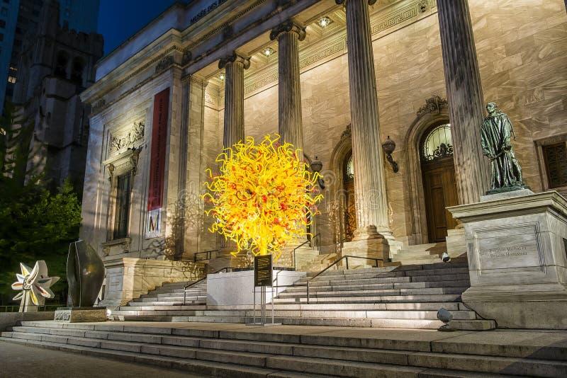 El museo de Montreal de las bellas arte MMFA fotografía de archivo libre de regalías