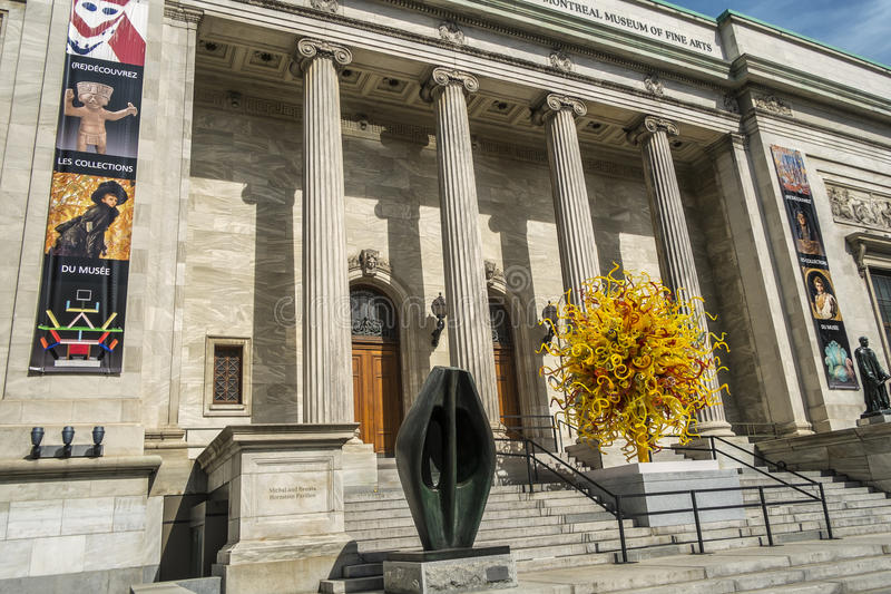 El museo de Montreal de las bellas arte MMFA foto de archivo