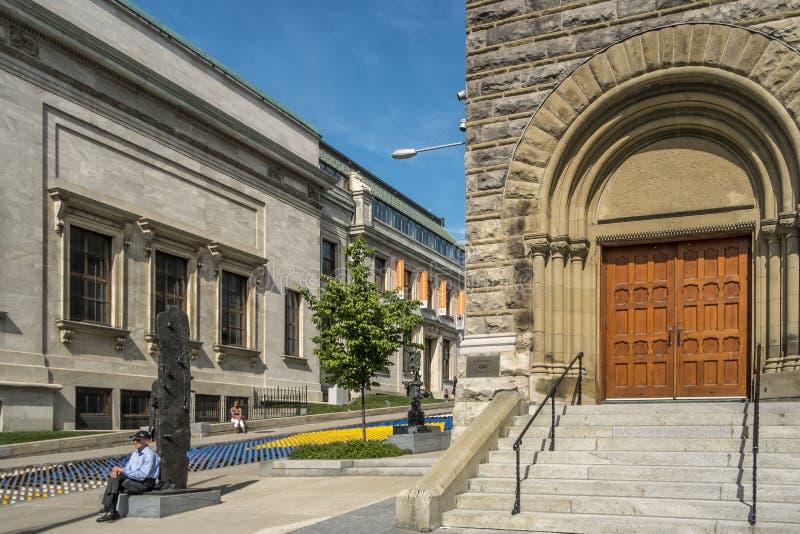 El museo de Montreal de las bellas arte MMFA imágenes de archivo libres de regalías