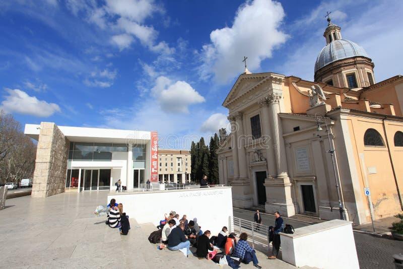 El museo de Pacis Augustae del Ara en Roma imágenes de archivo libres de regalías