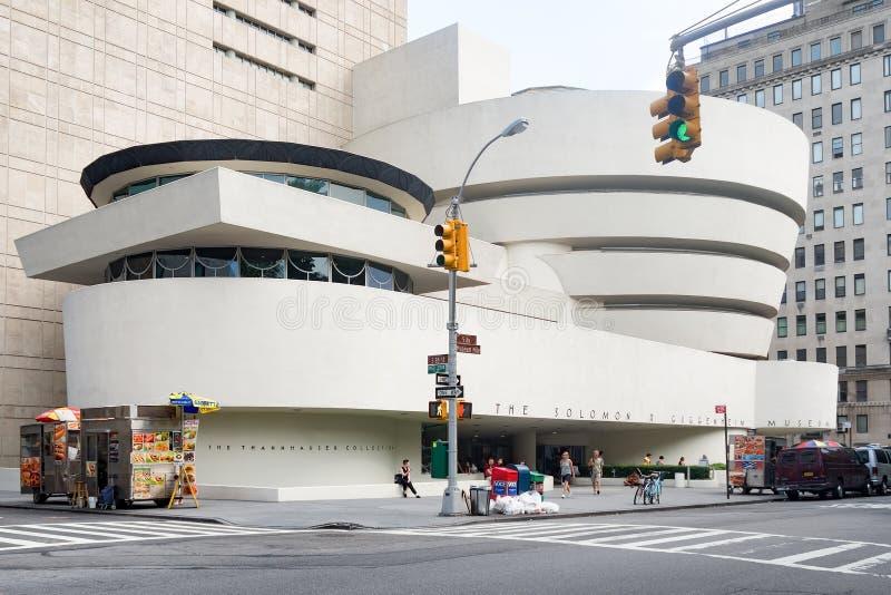 El museo de Solomon Guggenheim en New York City imagen de archivo