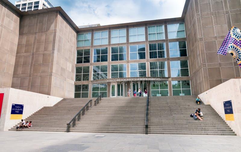 El museo del arte contemporáneo cerca del lugar de la torre en Chicago céntrica fotografía de archivo libre de regalías