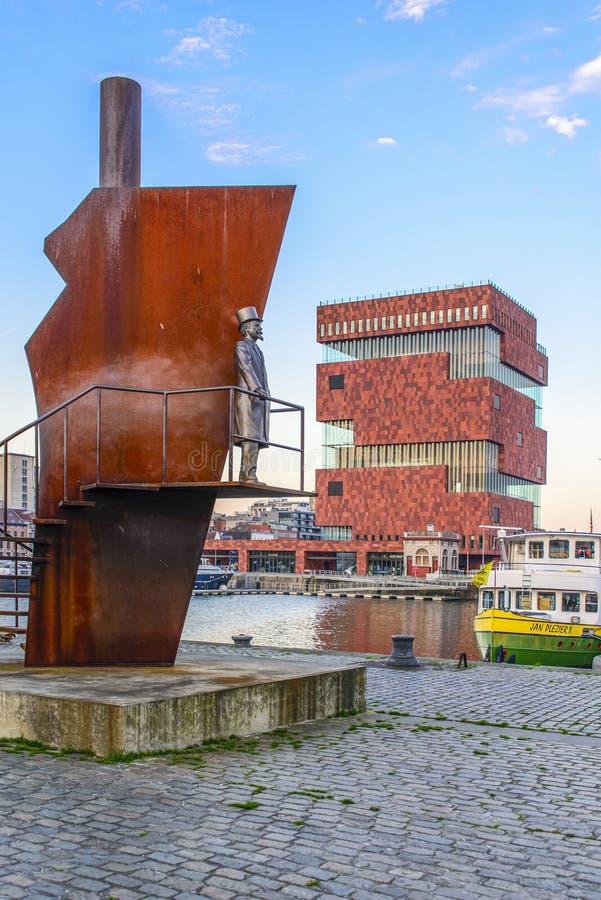 El museo del MAS en Amberes, Bélgica fotos de archivo