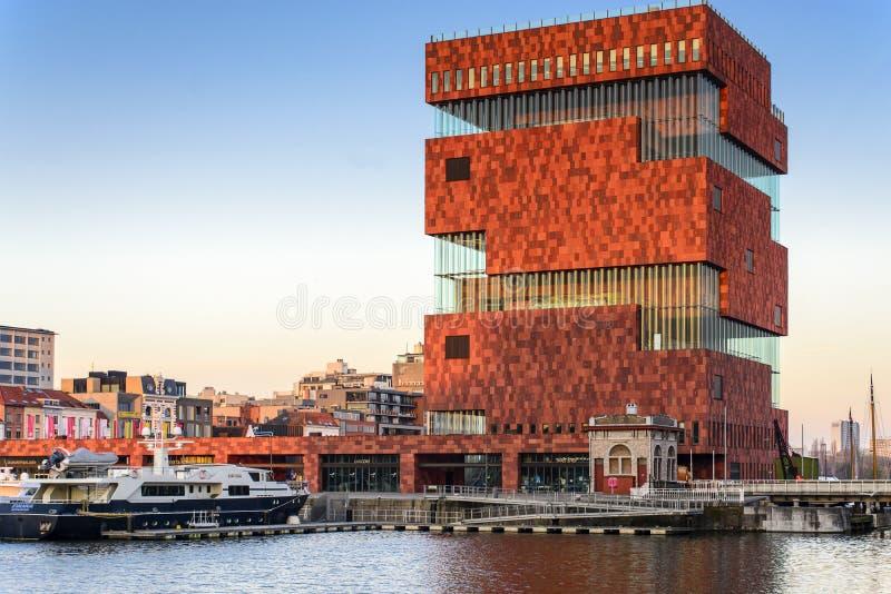 El museo del MAS en Amberes, Bélgica fotos de archivo libres de regalías