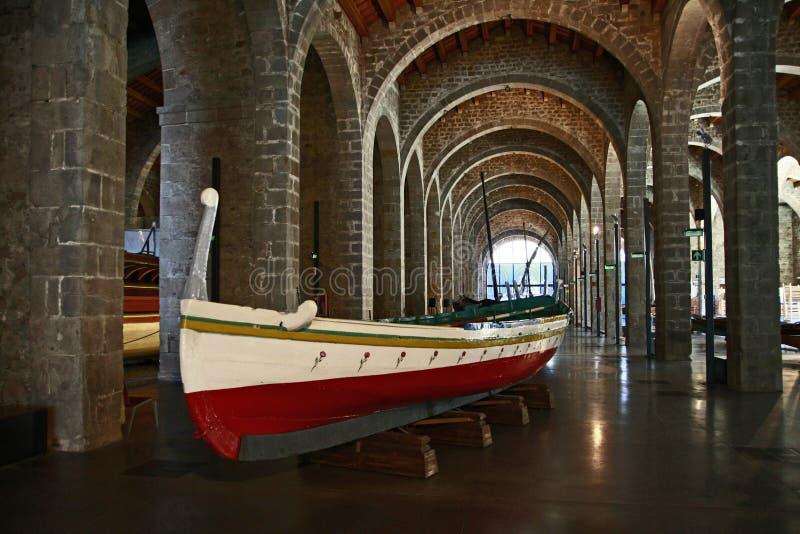 El museo marítimo en Barcelona, Cataluña, España fotografía de archivo