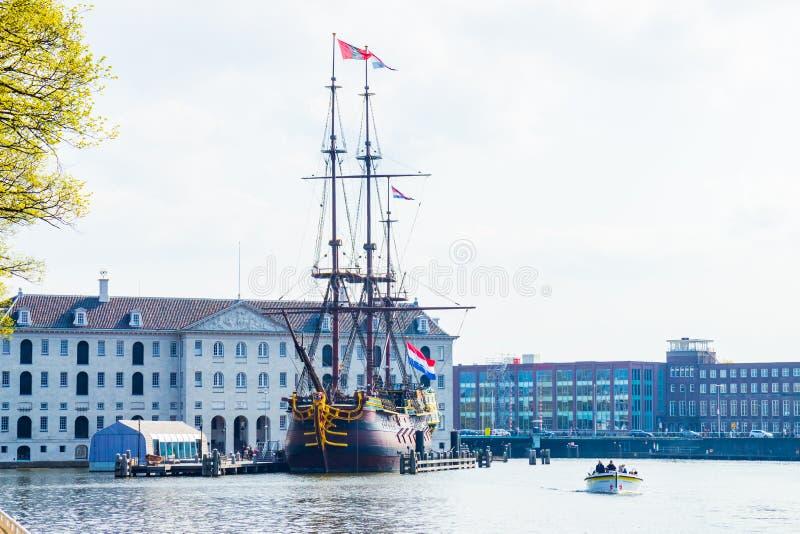 El museo marítimo nacional, Amsterdam, Países Bajos fotos de archivo libres de regalías