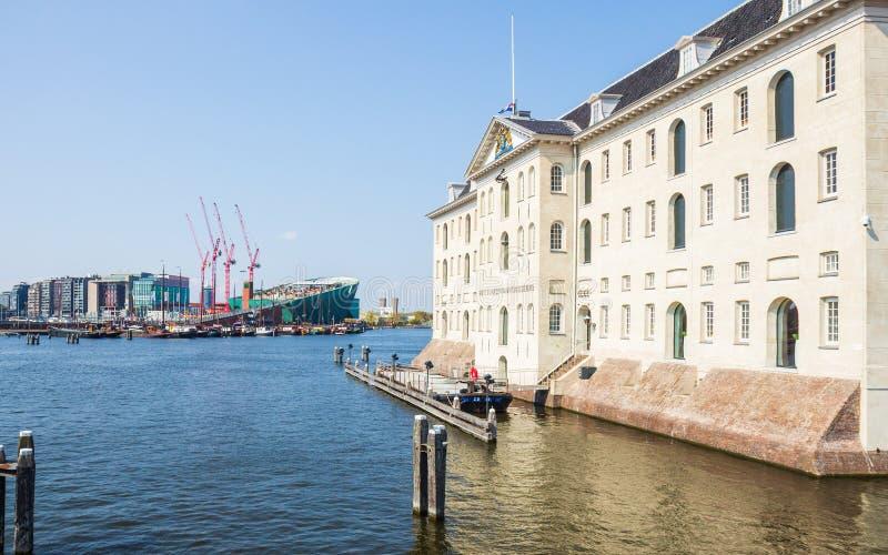 El museo marítimo nacional de Amsterdam en los Países Bajos imagen de archivo libre de regalías