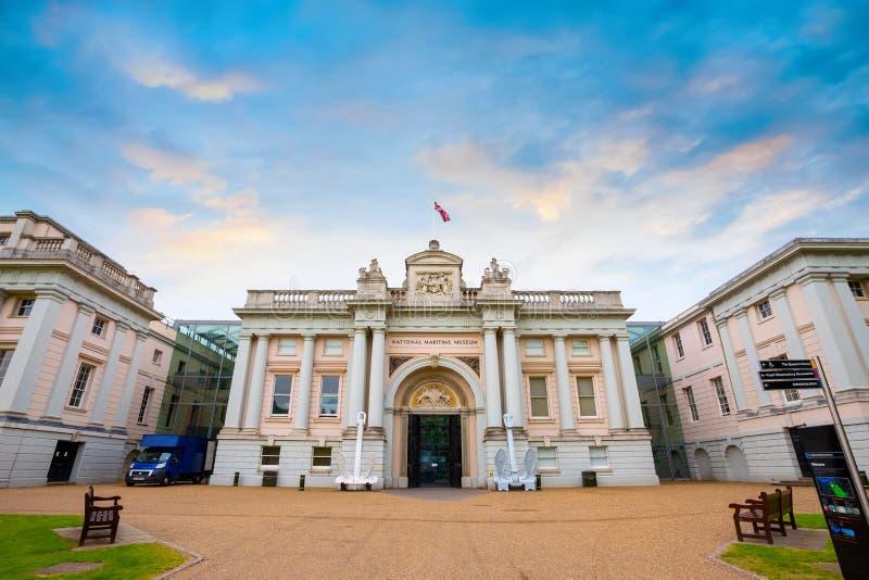 El museo marítimo nacional en Greenwich, Londres, Reino Unido imagenes de archivo
