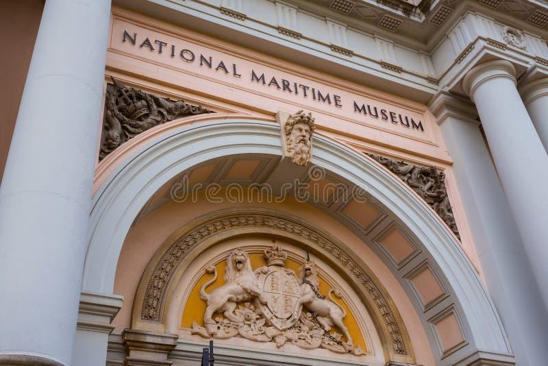 El museo marítimo nacional en Greenwich, Londres, Reino Unido foto de archivo
