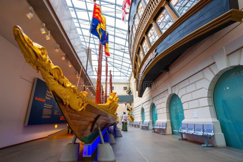 El museo marítimo nacional en Greenwich, Londres, Reino Unido imágenes de archivo libres de regalías