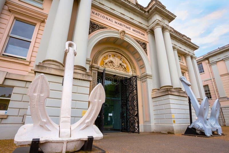 El museo marítimo nacional en Greenwich, Londres, Reino Unido fotografía de archivo