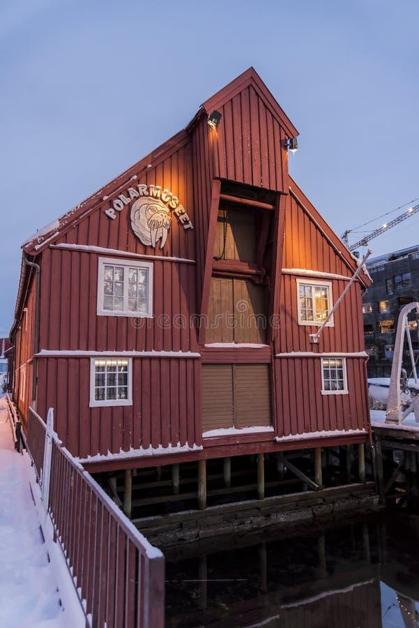 El museo polar Tromsø fotografía de archivo