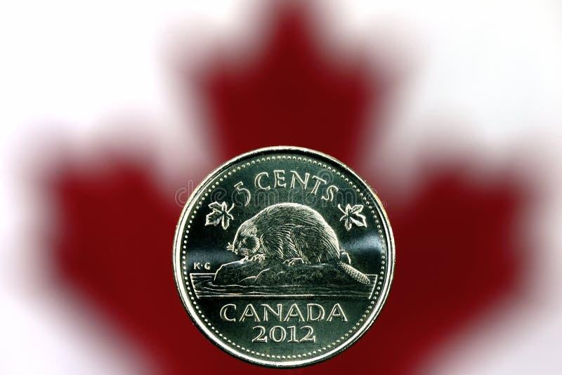 Níquel canadiense foto de archivo