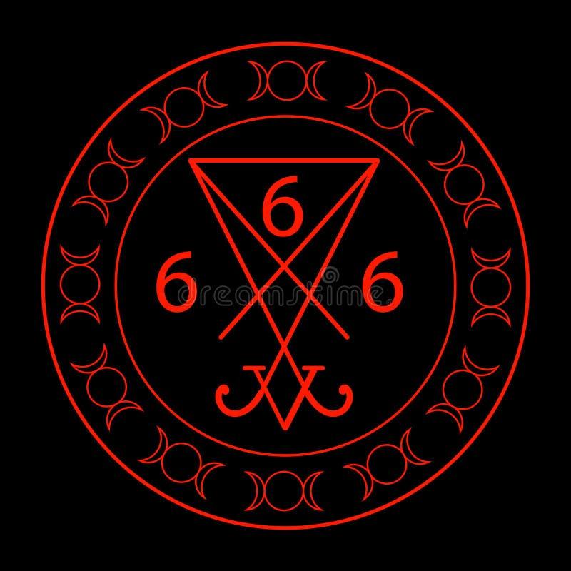 666- el número de la bestia stock de ilustración