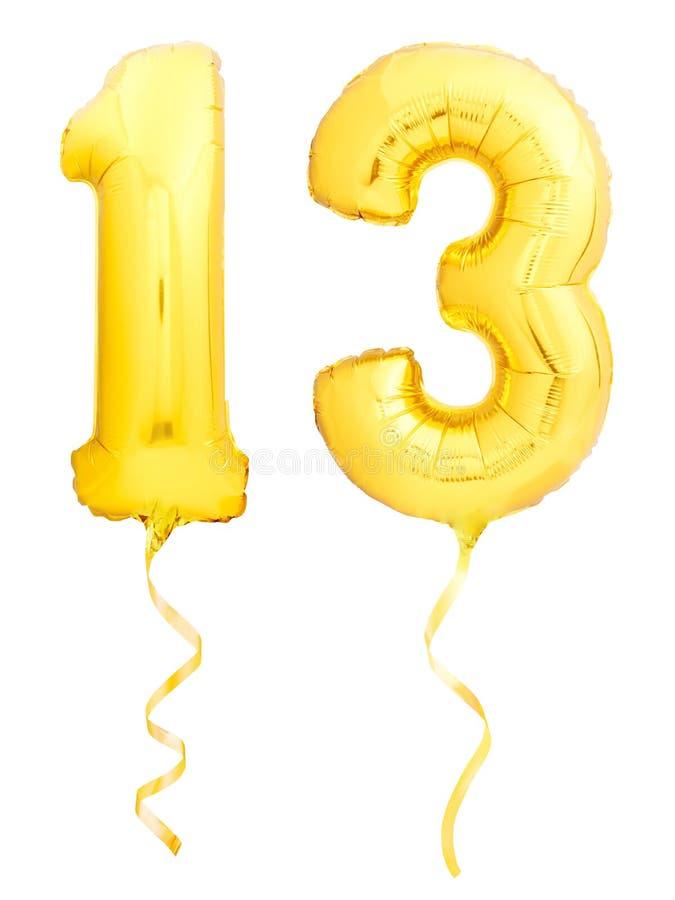 El número de oro 1 hizo del globo inflable imagen de archivo